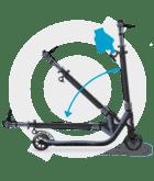 Запатентированная технология складывания самоката Globber ONE NL 125 DELUXE