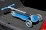 Самокат Globber elite f my free FOLD UP light  со светящейся платформой и светящ. колес DARK BLUE 39