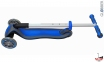 Самокат Globber elite f my free FOLD UP light  со светящейся платформой и светящ. колес DARK BLUE 18