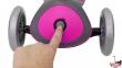Самокат GLOBBER EVO  4 in 1 TITANIUM  розовый со светящимися колесами 22