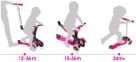 Самокат GLOBBER EVO 5 in 1 розовый со светящимися колесами  53