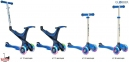 Самокат GLOBBER EVO 5 in 1 синий со светящимися колесами  40