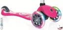 Самокат GLOBBER PRIMO Fantasy со светящимися колесами LOGO Neon pink 17