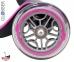 Самокат Globber elite f my free FOLD UP light  со светящейся платформой и колесами, RHODAMINE розовый 2