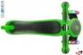 Самокат GLOBBER PRIMO PLUS TITANIUM со светящимися колесами зеленый 2
