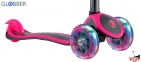 Самокат GLOBBER EVO  4 in 1 TITANIUM  розовый со светящимися колесами 15