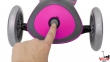 Самокат GLOBBER EVO  4 in 1 TITANIUM  розовый со светящимися колесами 14