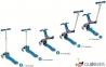 Самокат GLOBBER EVO 5 in 1 синий со светящимися колесами  27