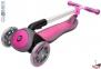 Самокат Globber elite f my free FOLD UP light со светящимися колесами Розовый  50