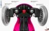 Самокат GLOBBER EVO  4 in 1 TITANIUM  розовый со светящимися колесами 18