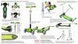 Самокат Globber elite f my free FOLD UP light  со светящимися колесами Зеленый 52