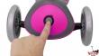 Самокат GLOBBER PRIMO PLUS TITANIUM со светящимися колесами розовый 12