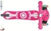 Самокат GLOBBER PRIMO Fantasy со светящимися колесами LOGO Neon pink 3