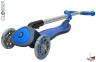 Самокат Globber elite f my free FOLD UP light  со светящейся платформой и светящ. колес DARK BLUE 11