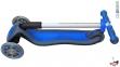 Самокат Globber elite f my free FOLD UP light  со светящейся платформой и светящ. колес DARK BLUE 17