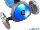 Самокат Globber elite f my free FOLD UP light  со светящейся платформой и светящ. колес DARK BLUE 26