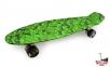 Penny Board зеленый хаки со светящимися колесами 0