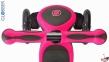 Самокат GLOBBER PRIMO PLUS TITANIUM со светящимися колесами розовый 3