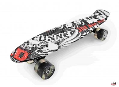 Penny Board абстракция со светящимися колесами