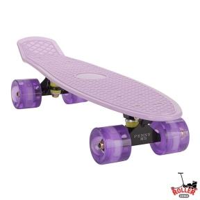 Penny Board Сиреневый со светящимися колесами