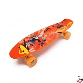 Penny Board оранжевый звезда танцев со светящимися колесами