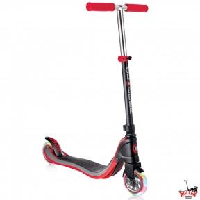 Самокат Globber My TOO FIX UP 125 со светящимися колесами Черно-Красный