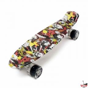 Penny Board ULTRA принт со светящимися колесами