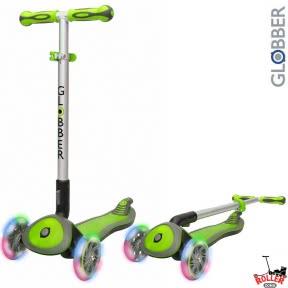 Самокат Globber elite f my free FOLD UP light  со светящимися колесами Зеленый