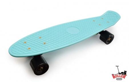 Penny Board Голубой с черными колесами.