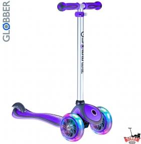Самокат GLOBBER PRIMO PLUS со светящимися колесами Purple фиолетовый