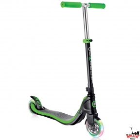 Самокат Globber My TOO FIX UP 125 со светящимися колесами Зеленый