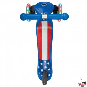 Самокат GLOBBER PRIMO Fantasy со светящимися колесами Американский флаг