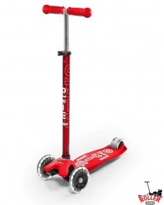 Самокат Maxi Micro Deluxe Red со светящимися колесами