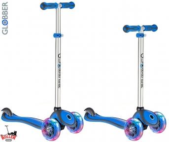 Самокат GLOBBER PRIMO PLUS со светящимися колесами синий