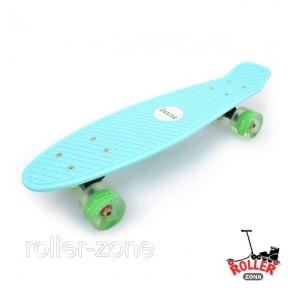 Penny Board Голубой со светящимися колесами