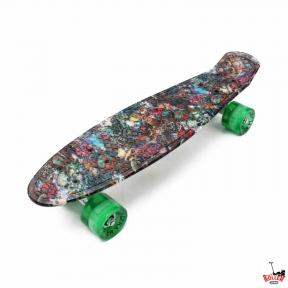 Penny Board ULTRA черепа со светящимися колесами