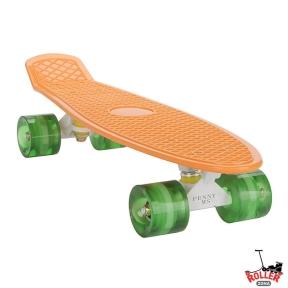Penny Board Оранжевый со светящимися колесами