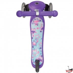 Самокат GLOBBER PRIMO Fantasy со светящимися колесами STARS Violet Neon Purple