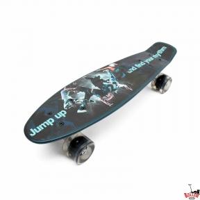 Penny Board черный Брейк-данс со светящимися колесами