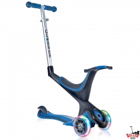 Самокат GLOBBER EVO 5 in 1 синий со светящимися колесами