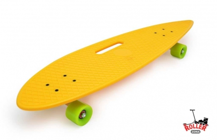 Penny Board Longboard Fish желтый