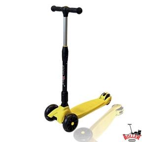 Самокат Explore SMART F желтый со светящимися колесами