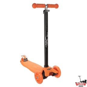 Самокат Maraton Scooter Maxi оранжевый со светящимися колесами