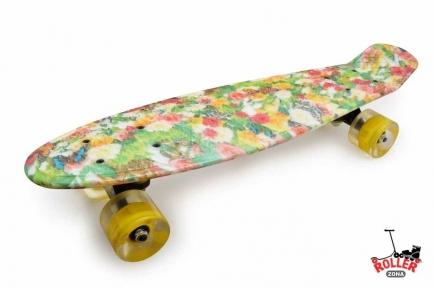Penny Board абстракция краска со светящимися колесами