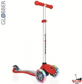 Самокат GLOBBER PRIMO Fantasy со светящимися колесами RACING Red