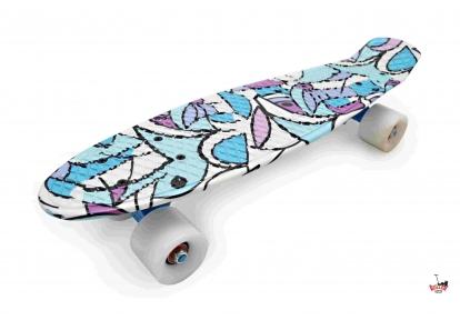 Penny Board голубая абстракция