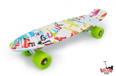 Penny Board граффити белый
