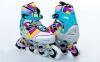 Роликовые коньки раздвижные ZELART Z-800 размер 38-41 голубые - Фото №1