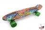 Penny Board граффити со светящимися колесами - Фото №1